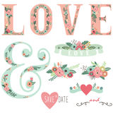 Set of Wedding Invitation Design Elements Stock Photo