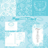 Set of wedding invitation vintage design elements Stock Photography