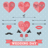 Set of wedding invitation Stock Photos