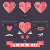 Set of wedding invitation Stock Image