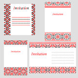 Set of wedding invitations Royalty Free Stock Images