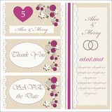 Set of wedding invitations and announcements Stock Photo
