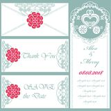 Set of wedding invitations and announcements Royalty Free Stock Photos