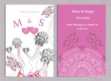 Set of wedding invitations and announcements Royalty Free Stock Photography