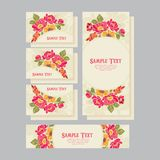 Set of wedding invitations card 01 Royalty Free Stock Photo