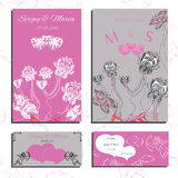 Set of wedding invitations and cards Stock Photography