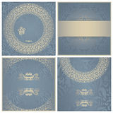 Set of wedding invitations Stock Photo