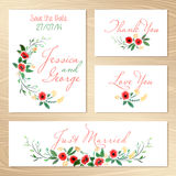 Set Of Wedding Invitations Royalty Free Stock Image