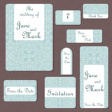 Set of wedding invitations. Wedding cards template with individual concept.  Stock Image