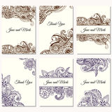Set of wedding invitations. Wedding cards template with individual concept. Design for invitation, thank you card, save the date c Royalty Free Stock Images