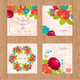 Set of wedding invitations Stock Photography