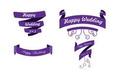 Set of wedding laurel. Set of wedding ribbon.