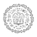 Set of wedding ornaments and decorative elements Stock Photography