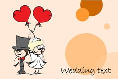 Set of wedding pictures,vector Stock Photo
