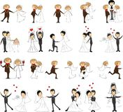 Set of wedding pictures,vector Stock Photography
