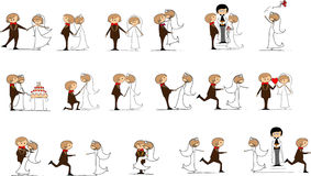 Set of wedding pictures ,vector Stock Photography