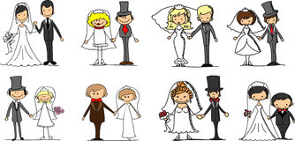 Set wedding pictures,vector Stock Images