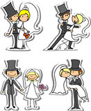 Set of wedding pictures,vector Royalty Free Stock Image