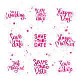 Set wedding quotes. Calligraphy Stock Image