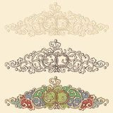 Set of wedding renaissance borders Royalty Free Stock Images