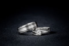 Set of Wedding Rings Stock Image