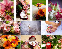 Set wedding rings Royalty Free Stock Images