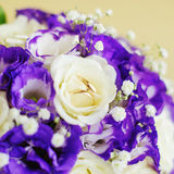 Set of wedding rings on flowers Royalty Free Stock Images