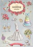 A set of wedding romantic items Stock Photography