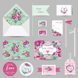 Set of Wedding Stationary Royalty Free Stock Photography