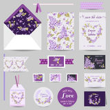 Set of Wedding Stationary Royalty Free Stock Photography