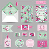 Set of Wedding Stationary Royalty Free Stock Image