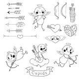 Set Wedding and Valentine's Day doodles Stock Photography