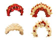 Set wedding wreath of Ukrainian women  on a white background iso Stock Image