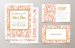 Set  weddings  invitation Stock Images
