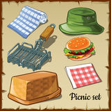 Set for weekend picnic Royalty Free Stock Photo