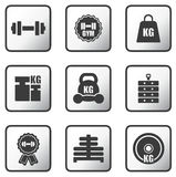 Set of weight icons Royalty Free Stock Photo
