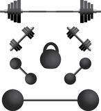 Set of weights.third variant Stock Photos