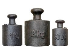 Set of weights - various weights Stock Photography
