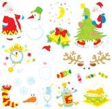 Set Weihnachtenc$clipkünste stock abbildung