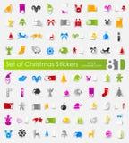 Set Weihnachtsaufkleber Stockfoto