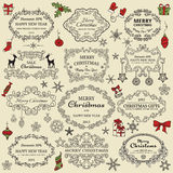 Set Weihnachtselemente Lizenzfreie Stockfotos