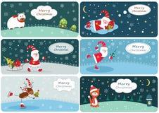 Set Weihnachtsfahnen Stockfotos