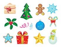 Set Weihnachtsikonen Lizenzfreie Stockfotografie