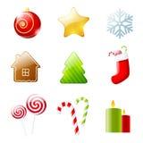 Set Weihnachtsikonen Lizenzfreie Stockbilder