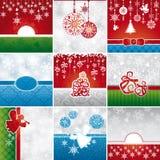 Set Weihnachtskarten Lizenzfreies Stockfoto