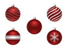 Set Weihnachtskugeln Lizenzfreie Stockfotografie