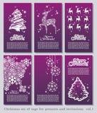 Set Weihnachtsminimale einfache Marken Stockfotos