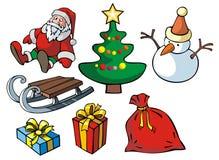Set Weihnachtsnachrichten Lizenzfreies Stockfoto