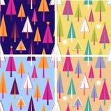 Set Weihnachtsnahtlose Muster Lizenzfreie Stockbilder