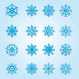 Set Weihnachtsschneeflocken lizenzfreie abbildung